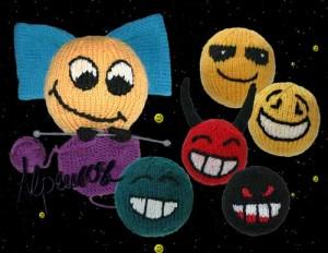 Smileys gestrickt